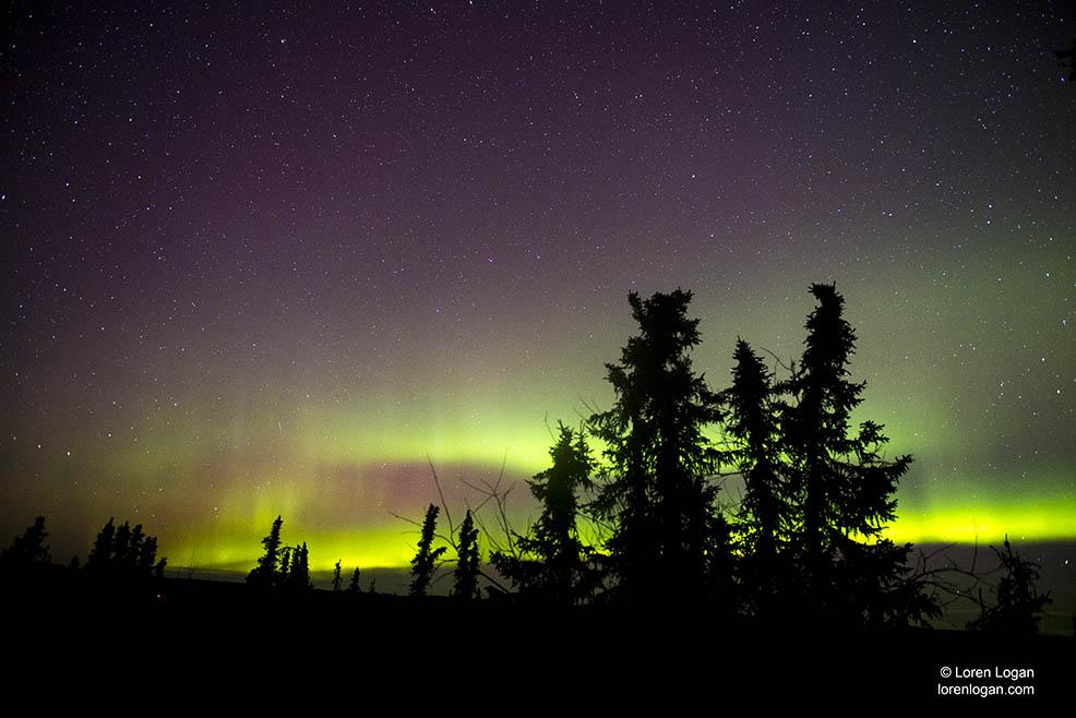 Fairbanks, Alaska, northern lights, aurora borealis, photo